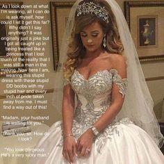 wedding story Femdom groom
