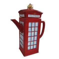 Vintage London Telephone Booth Teapot