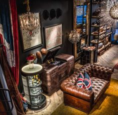 In the notorious canal district lies the Timothy Oulton store, British furniture and lighting designs that are handcrafted with a vintage-look.