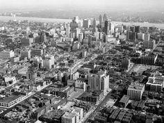 Aerial Photography by Don Coles, Skyline Detroit, Michigan Detroit Area, Metro Detroit, Flint Michigan, Detroit Michigan, Detroit Vs Everybody, Black And White Building, Detroit Skyline, Detroit History, Great Lakes