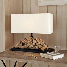 Oblong Driftwood Table Lamp   west elm