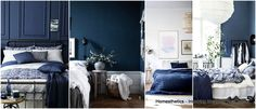 Grey and Blue Bedroom. Grey and Blue Bedroom. 33 Epic Navy Blue Bedroom Design Ideas to Inspire You Dark Blue Bedrooms, Blue Master Bedroom, Navy Bedrooms, Blue Rooms, Ochre Bedroom, Blue Accent Walls, Navy Blue Walls, Bedroom Images, Bedroom Pictures