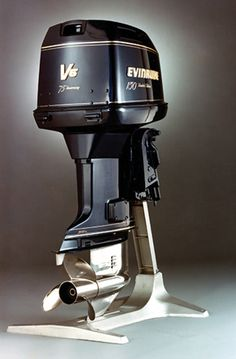 Over the years, the Evinrude outboard became a setpiece of pure Americana. The Elto Company and Johnson Motors merged with Evinrude in Tower Of Power, Outboard Boat Motors, Mercury Marine, Boat Engine, Fast Boats, Vintage Boats, Float Your Boat, Old Boats, Over The Years