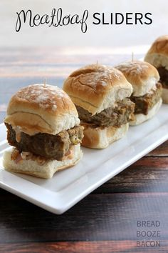 Meatloaf Sliders | B