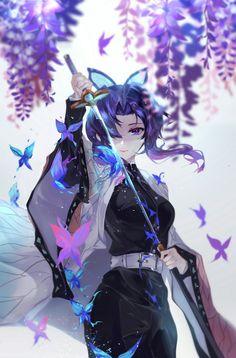 'Demon Slayer - Shinobu' Poster by - Anime: Demon Slayer / Kimetsu no Yaiba – Character: Shinobu Kawaii Anime Girl, Cool Anime Girl, Pretty Anime Girl, Anime Art Girl, Anime Guys, Anime Fan Art, Anime Angel, Anime Demon, Otaku Anime