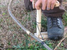 Detailed instruction for making and using a fire bow drill.