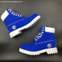 Classic Timberland Royal Blue-White Anti-fagitue 6 Inch Premium Mens Footwear $90.99
