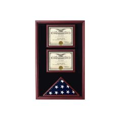 2 Documents Flag Display Cases via Polyvore featuring home, home decor, office accessories, flag box and document box