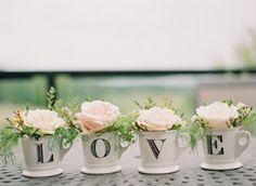 20 Centros de mesa criativos para casamento! - Guia Tudo Festa - Blog de Festas - dicas e ideias!