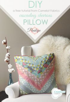 How To's Day: Cascading Chevrons Pillow Tutorial