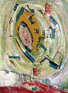 Valerie Goodwin is one of my favorite artists. Architecture + textiles - no wonder I love her work.