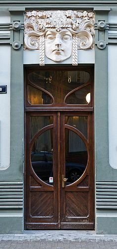 Art Nouveau door in Riga, Latvia