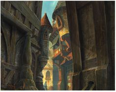 Concept art from Disney's The Hunchback of Notre Dame