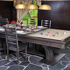 The La Condo Divine By Canada Billiard Is A 2 In 1 Dining Pool Table,  Constructed Of Solid White Birch. The La Condo Divine Is The Ideal Unit For  The ...