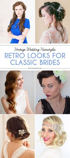 Going to the chapel? Celebrate your modern love story with a retro twist by sporting one of these vintage wedding hairstyles. Whether you decide to channel the romance of Jane Austen or the sex appeal of a silver screen siren, a classic hairstyle is a timeless choice you won't regret.