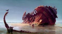 Fallout 4: Mirelurk Ship, Ilya Nazarov on ArtStation at https://www.artstation.com/artwork/znzzQ
