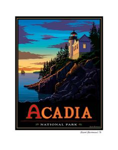 Acadia National Park Giclee print. by BeechwoodStudioNC on Etsy