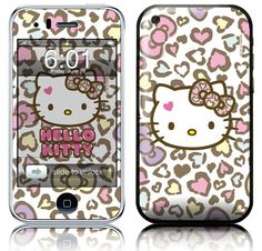 Adorei! Leopard and Hearts iPhone 3g e 3gs