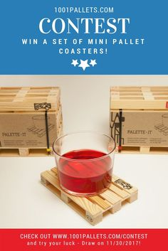 Show your pallet love with these originals mini pallet coasters! Try your luck! Contest ends on November, 30 2017!