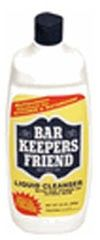 """Bar Keepers Friend   $5 """"Does your water leave your tub stained and dingy, even when you scrub and scrub with a sponge and your usual cleaners? Well, there's a solution! Keep your sponge but switch to Bar Keeper's Friend. You can purchase it in liquid or powder form from many grocery store chains. And, you can put in a lot less effort than you did with your usual cleaners. Barkeeper's Friend will get your tub looking shiny and new again! The next time you tackle cleaning your stainless steel, fiberglass, porcelain, imitation marble, stovetops, countertops, pots and pans, bathroom tile, tubs, and toilets, give it a try. I have and I've never switched back."""""""