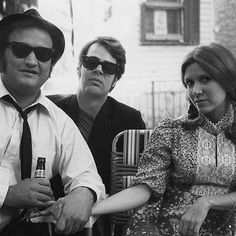 John Belushi, Dan Akroyd and Carrie Fisher