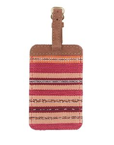 This handwoven luggage tag is the perfect gift.  {The Little Market}