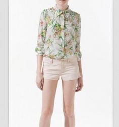 Studded Silk Shirt from Zara Sexy Outfits, Trendy Outfits, Fashion Outfits, Womens Fashion, Dress Shirts For Women, Blouses For Women, Zara, Forever, Style
