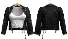 Blueberry - Kimi Leather Jackets - Maitreya, Belleza (All), Slink Physique Hourglass - ( Mesh ) - Black
