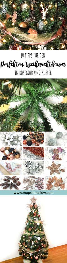 Träumt ihr auch von einem perfekt geschmückten Weihnachtsbaum für die Feiertage? In meinem DIY zeige ich euch meine 10 Tipps für den perfekt geschmückten Weihnachtsbaum in Rosegold und Kupfer. Angefangen vom richtigen Aufbau eines künstlichen Weihnachtsbaums bis hin zu Schleifen, Lichtern und den passenden Kugeln in Rosegold und Kupfer. Klickt hier für meine persönlich Tipps, wie auch ihr zum Fest einen perfekt geschmückten Weihnachtsbaum zu Hause stehen haben könnt.