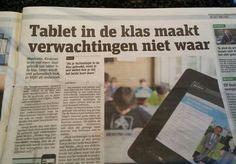 Tablets in de klas maken d3 verwachtingen niet waar. Metro 15 april.