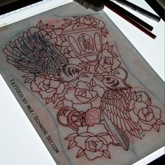 tattoo drawing #backpiecetattoodesign #tattoodesign #tattoo #traditionaltattoodesign #traditionaltattoos #design #schweresee #stendal #muetattooer #tattoos #tattoosketch #oldscholltattoos #raven #crow #peonie #peony #peonytattoo #sketch #backpiece