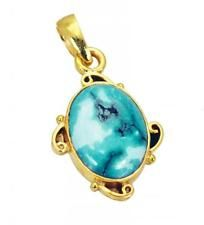 Turquoise Copper Pendant L-2.1in marvelous Turquoise supply AU gift