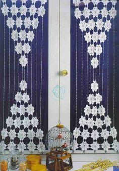 hæklede gardiner De 93 bedste billeder fra Hæklede gardiner på Pinterest | Crochet  hæklede gardiner