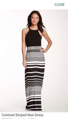 Stripped Maxi Dress #She #Maxi #Casual