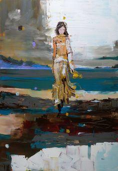 "Saatchi Art Artist OSCAR ALVAREZ; Impressionist Women Painting, ""NS-12"" #art"