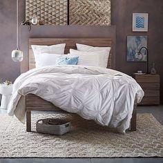 Stria Bed - Cerused White #westelm