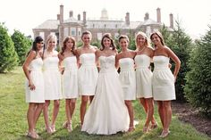 The All White Wedding Party