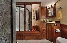 The master bathroom of the Forest River RV.   http://www.outdoorgiveaway.com