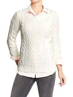 Old Navy Cable-Knit Sweater in Polar Bear