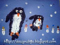 Penguin Feet and Snowman Thumbprints