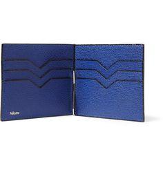 ValextraCross-Grain Leather Card Holder MR PORTER