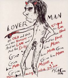 Nick Cave - self portrait