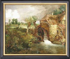 Mill At Gillingham, Dorset By John Constable Counted Cross Stitch Pattern PDF