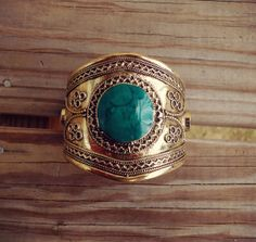 FREE Shipping Vintage Turquoise Cuff Bracelet  by ZamarutJewel, $64.00
