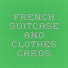 French suitcase and clothes cards