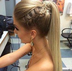 High braided ponytail