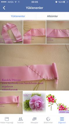 Wonderful Ribbon Embroidery Flowers by Hand Ideas. Enchanting Ribbon Embroidery Flowers by Hand Ideas. Ribbon Embroidery Tutorial, Ribbon Flower Tutorial, Silk Ribbon Embroidery, Embroidery Kits, Kanzashi Tutorial, Shirt Embroidery, Ribbon Art, Diy Ribbon, Ribbon Crafts