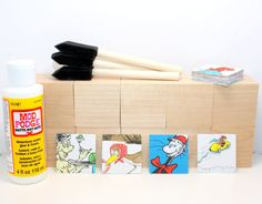 Baby Shower Craft  Dr. Seuss  Cat In The Hat  Are by Booksonblocks