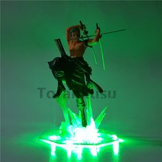 One Piece Action Figure Roronoa Zoro Led Light Figuarts - One piece Merchandise Roronoa Zoro, One Piece Merchandise, Anime Store, Figure Model, One Piece Anime, Manga, Diorama, Action Figures, Led