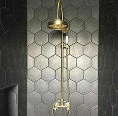 BTS4 Classic column shower adjustable hand shower - Bespoke Taps